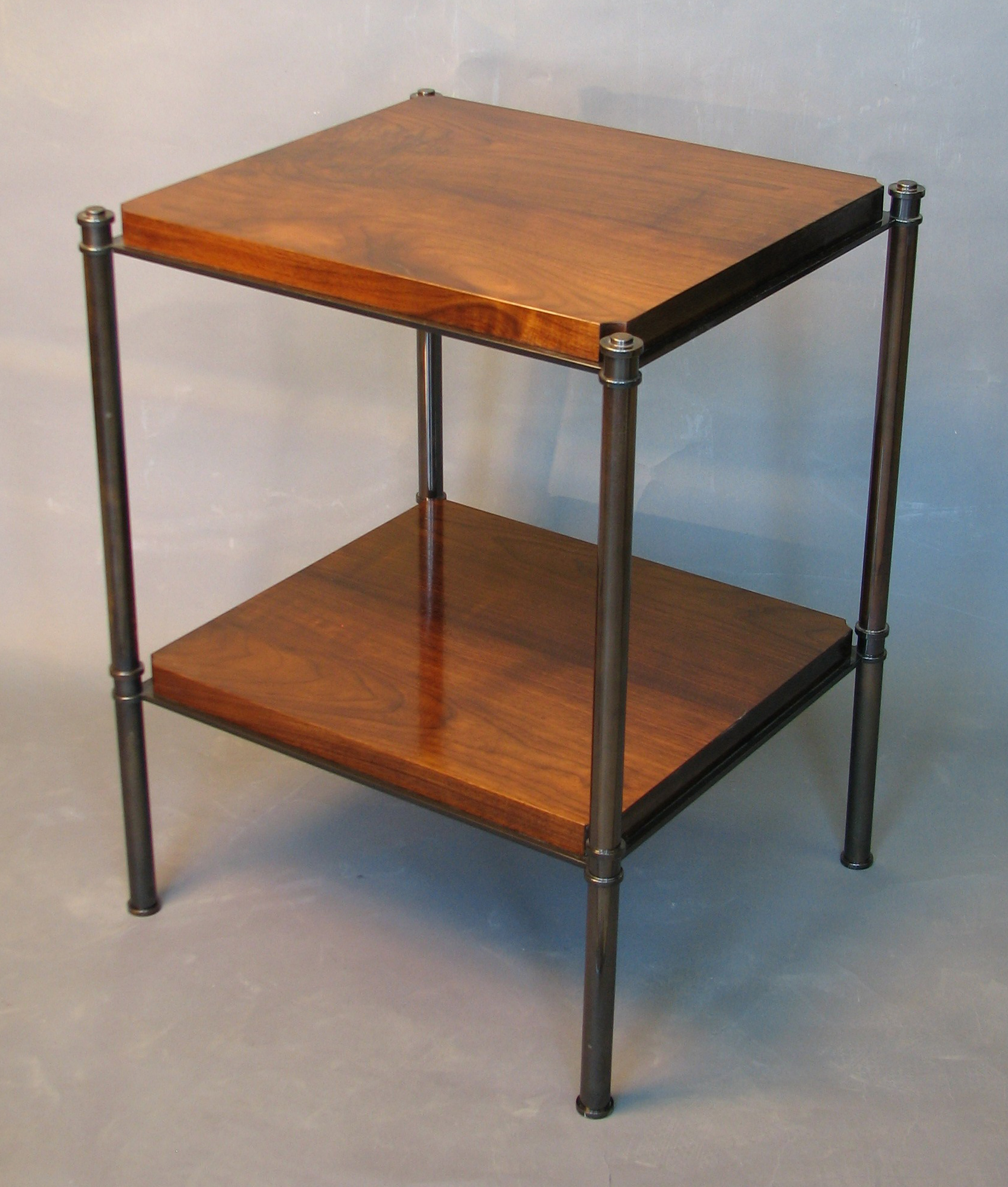 Thumbnail image for Metal Edged Table With Plank Shelves